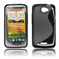 BACK CASE S-line - HTC ONE X BLACK