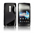BACK CASE S-line - SON Xperia ion / LT28i BLACK