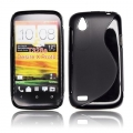 BACK CASE S-line - HTC DESIRE X BLACK