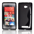 BACK CASE S-line - HTC 8X BLACK