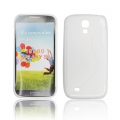 BACK CASE S-line - SAM I9500 GALAXY S4 WHITE
