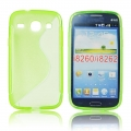 Back Case S-line - SAM G350/G3502 Galaxy Core Plus green