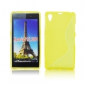 Back Case S-line - SON Xperia Z1 Compact yellow