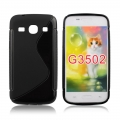 Back Case S-line - SAM G350/G3502 Galaxy Core Plus black