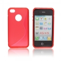 Back Case S-line - APP IPHO 4/4S red