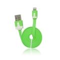 USB Flat Cable - APP IPHO 5/5C/5S/iPAD Mini green iOS7 compatibile
