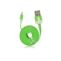 USB Flat Cable - micro USB green