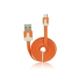 USB Flat Cable - micro USB orange