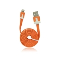 USB Flat Cable - APP IPHO 5/5C/5S/iPAD Mini orange iOS7 compatibile