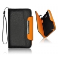 WALLET CASE APP IPHO 4S BLACK/ORANGE