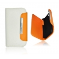 WALLET CASE APP IPHO 4S WHITE/ORANGE