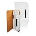 LEATHER SLIM VERTICAL CASE - SAM I9300 GALAXY S3 WALETT WHITE