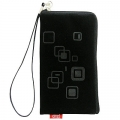 CHIC POCKET CASE WITH ZIPPER - BLACK SQUARE (13x7cm)