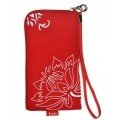 CHIC POCKET CASE WITH ZIPPER - FLEXI RED (13x7cm)