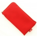 CHIC POCKET CASE WITH ZIPPER - RED (13x7cm)