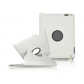 BOOK CASE IPAD 3 ROTATED WHITE